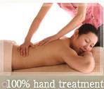 100% hand treatment