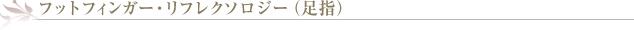 フットフィンガー・リフレクソロジー(足指)