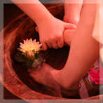タイハーブの足浴で優雅にリラックス